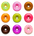 Donuts icons set vector image