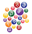coloured lottery balls vector image vector image