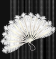white feathers fan vector image vector image