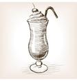 Milk shake sketch style vector image