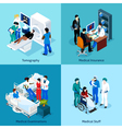 Relationship Between Doctor And Patient Icon Set vector image