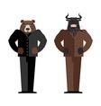 Bull Businessman Bear Businessman Bulls and bears vector image