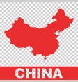 China map colorful red on isolated background vector image