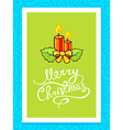 christmas candles with white hand written vector image