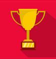 cup award icon flat vector image