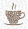 Cup of coffee consisting of coffee beans vector image