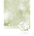 elegant christmas bauble background vector image