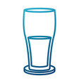 glass drink soda vector image