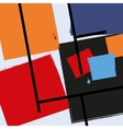 Modern background Cubism vector image
