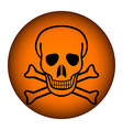 Poison sign button vector image