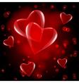 red hearts drop vector image