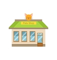 Pet Shop Commercial Building Facade Design vector image