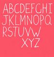 handwritten alphabet white letters on textured vector image