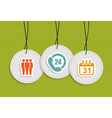 Hanging Service center badges vector image vector image