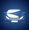 Auto in blue vector image vector image