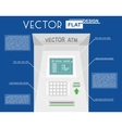 atm flat infographic vector image