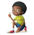 A cute young Black man vector image vector image