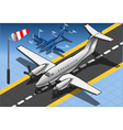 Isometric White Private Plane vector image