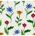 Watercolor Summer Seamless Pattern vector image