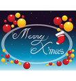 Merry Christmas card with ornaments vector image vector image