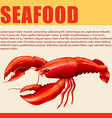 Food sign with seafood and text vector image