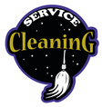 Cleaning service logo professional vector image