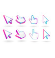 colored cursor mouse pointer icon vector image