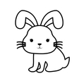 cute rabbit kawaii style vector image