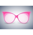 facet sunglasses pink vector image
