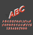 futuristic 3d alphabet geometric isometric vector image