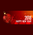 happy new year greeting card gold christmas vector image