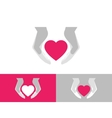 Heart care vector image