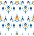 oriental pattern with arabesque and floral vector image