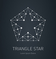 Star logo Modern stylish design element with vector image