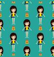 street fashion girls models wear seamless pattern vector image
