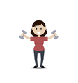 Woman exercising with dumbbells vector image
