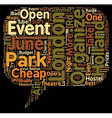 London open air events in june 2008 text vector image