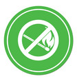 no fire sign vector image