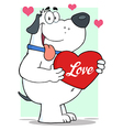 Puppy love valentines dog vector image vector image