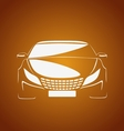 Auto in caramel vector image