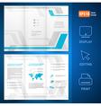 brochure design template folder leaflet geometric vector image vector image