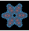 Blue ornamental star on black background Tribal vector image vector image
