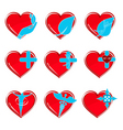 medical heart icons vector image vector image