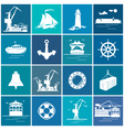 Set of Cargo and Marine Icons vector image