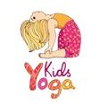 Logo for children yoga vector image