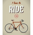 Bicycle sign Beatles album Famous song Flat vector image