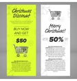 Christmas sales banners vector image