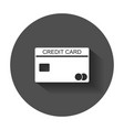 credit card icon banking card in flat style with vector image