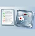 medical instrument background vector image