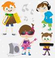 music kids vector image